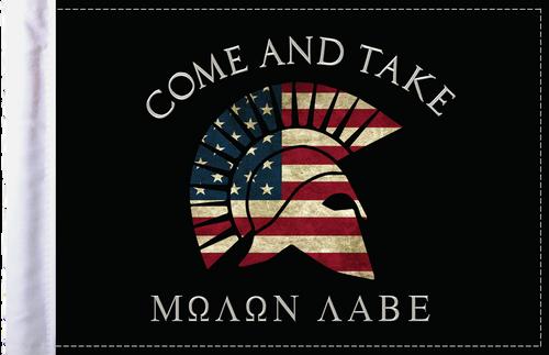 FLG-MNLB Molon Labe Come and Take flag 6x9