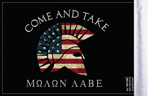 FLG-MNLB Molon Labe Come and Take flag 6x9 (BACK)