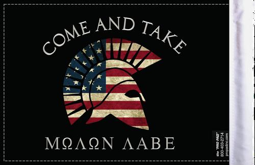 FLG-MNLB Molon Labe Come and Take flag 6x9 (BACK)