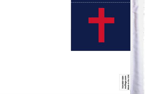 "6""x9"" Highway flag:  Christian (BACK)"