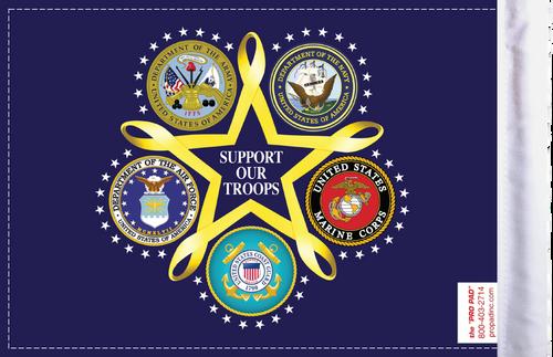 FLG-SOT  Support Our Troops 6x9 flag (BACK)