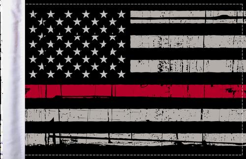 "FLG-GTRL-US Grunge USA Red Line 6""x9"" flag"