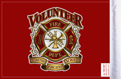 FLG-VFD  Volunteer Fire Dept 6x9 flag (BACK)