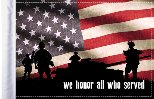 FLG-HONOR  We Honor All 6x9 flag