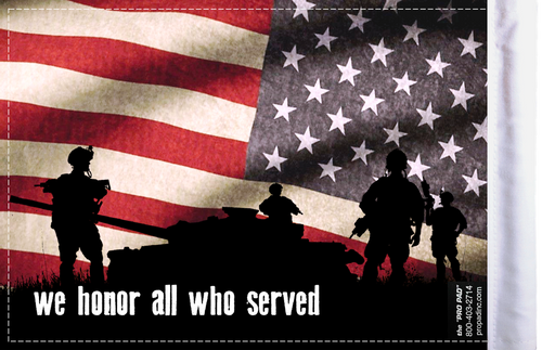 FLG-HONOR  We Honor All 6x9 flag (BACK)