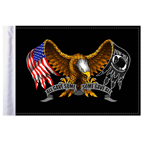 """6""""x9"""" Highway flag:  Some Gave All - Eagle"""