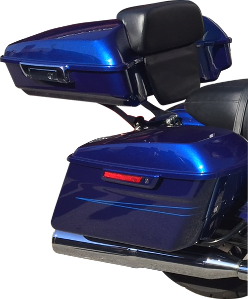 Superior Blue Slim Line Tour Paxx System for 2009+ Harley Touring Motorcycles