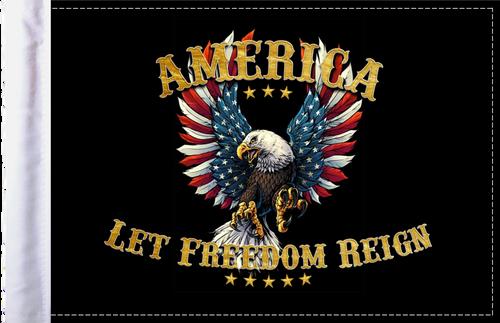 FLG-ALFR  America Let Freedom Reign flag 6x9