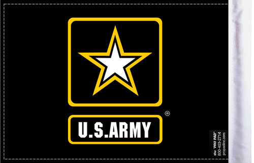FLG-ARMSTR  U.S. Army Star 6x9 flag (BACK)