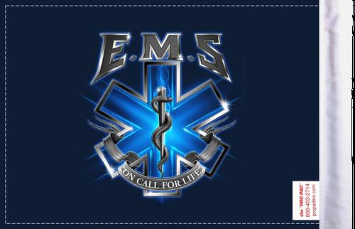 FLG-EMSOC  EMS On Call for Life 6x9 flag (BACK)