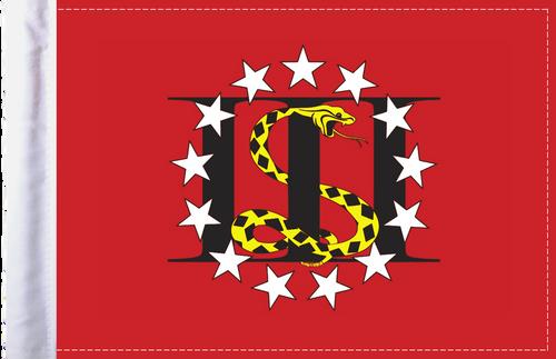 FLG-3PERC 3 Percenters flag 6x9