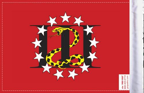 FLG-3PERC 3 Percenters flag 6x9 (BACK)