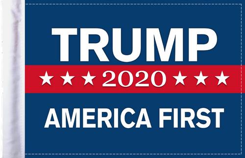 FLG-TRUMP  America First Trump 2020 flag 6x9