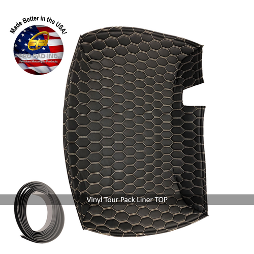 Vinyl TOP Tour Pack Liner with velcro