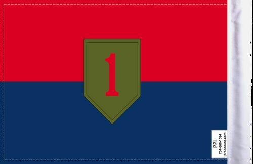 "6""x9"" Highway flag:  1st Infantry Division U.S. Army (BACK)"