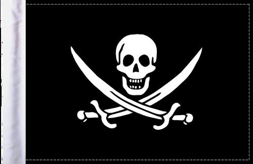 FLG-PRTCJ Calico Jack Rackham Pirate 6x9 highway flag