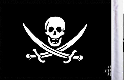 FLG-PRTCJ Calico Jack Rackham Pirate 6x9 highway flag (BACK)