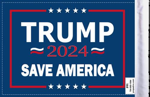 FLG-TRMPSA  Trump 2024 Save America flag 6x9 (BACK)