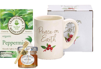 Peace On Earth Mug, Tea and Honey Set