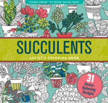 succulent coloring book