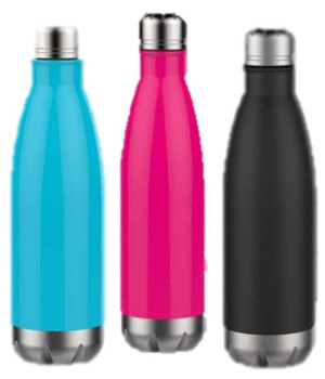 Stainless Steel Water Bottle 17 oz - Choose Color