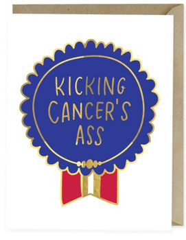 Kicking Cancer's Ass Greeting Card