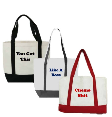 Men's Boat Tote Bag - Choose Color & Slogan