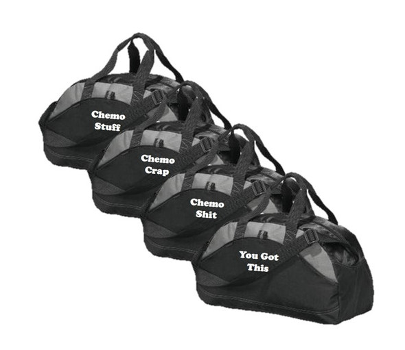 Black Canvas Gym Bag - Select Cancer Slogan