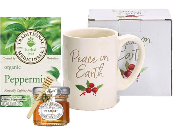 Peace On Earth Mug, Tea and Honey Set