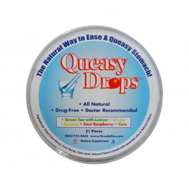 Queasy Drops Assorted Round  by Three Lollies
