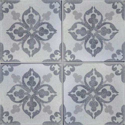 Flower light Grey Polished Trevisano Tile - M²