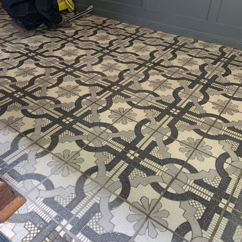 Mediterranean Hand Crafted Grooved Tiles