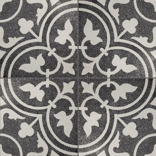 Black & White Trevisano Finished Tile - M²