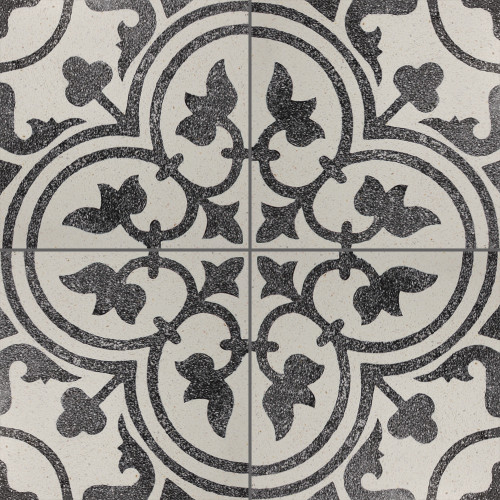 White & Black Trevisano Finished Tile - M²