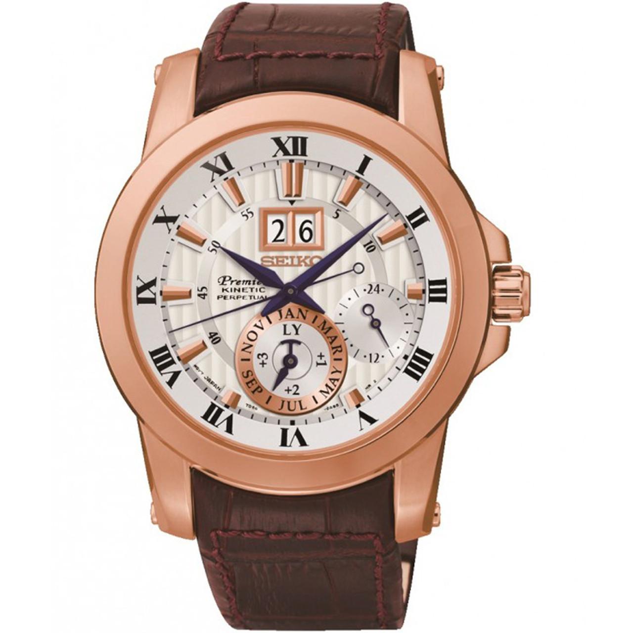 bf4b6d42a Seiko Premier Kinetic Perpetual Sapphire Crystal Watch SNP096P1 |  WatchO™