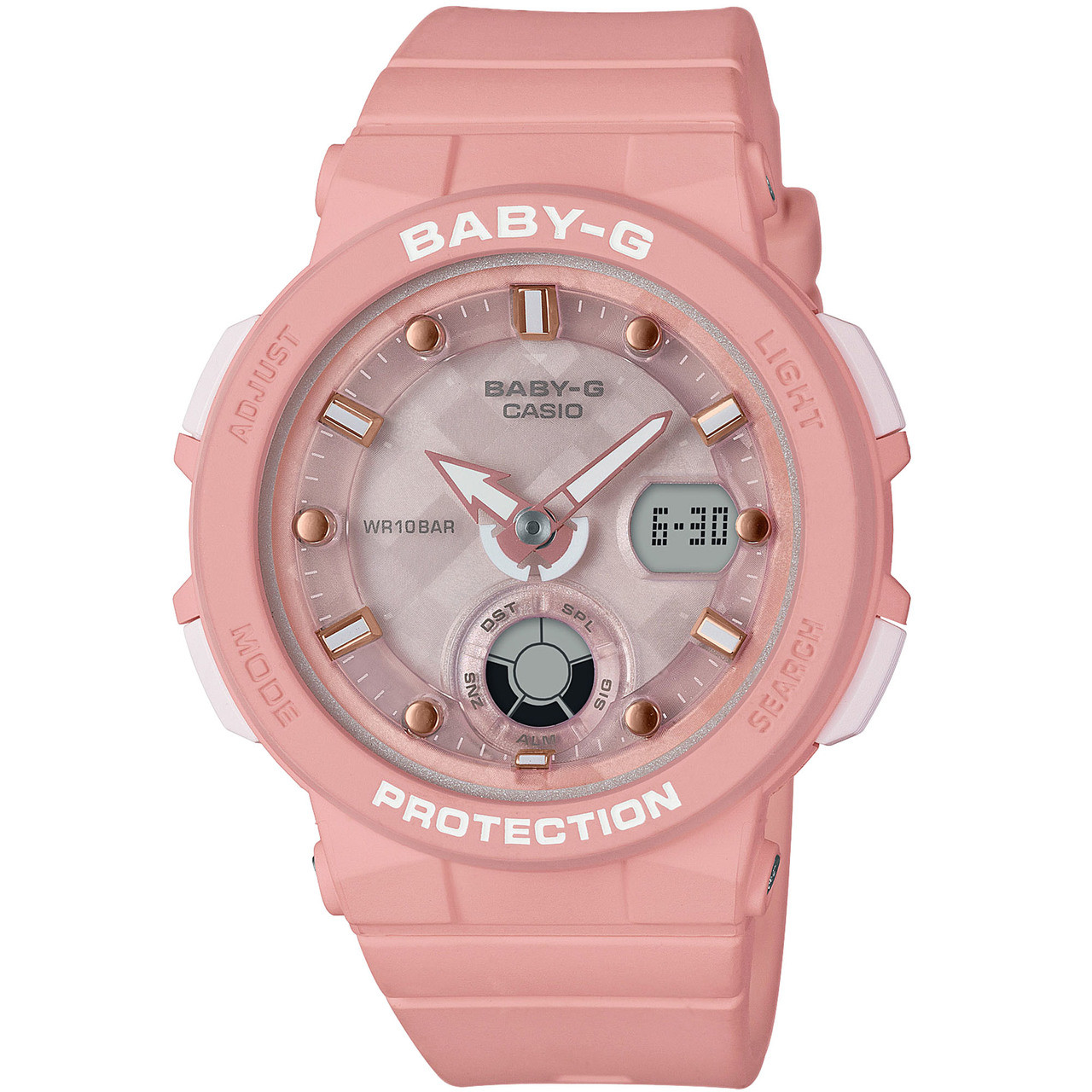 d8aca139cb Baby-G Ladies Pink Analog-Digital LED Backlight Watch BGA-250-4AER