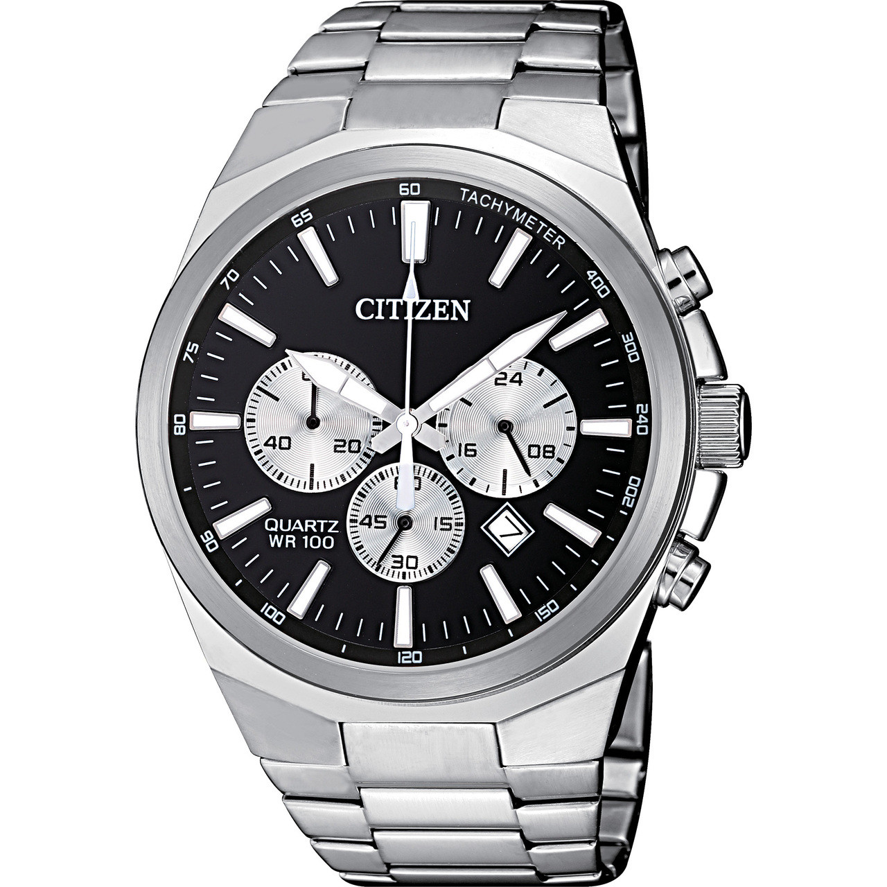 Citizen Quartz Men S Chronograph Black Dial Watch An8170 59e