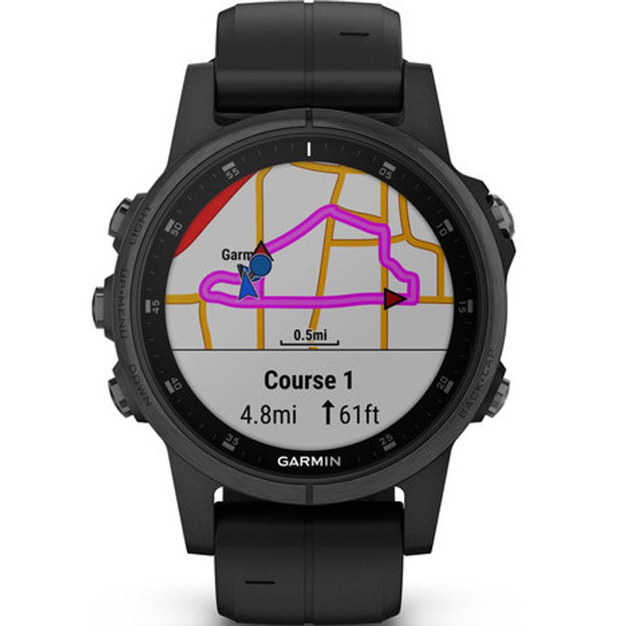 ecd1a84dd34 Garmin Fenix 5S Plus Sapphire GPS Watch 010-01987-03 | WatchO™