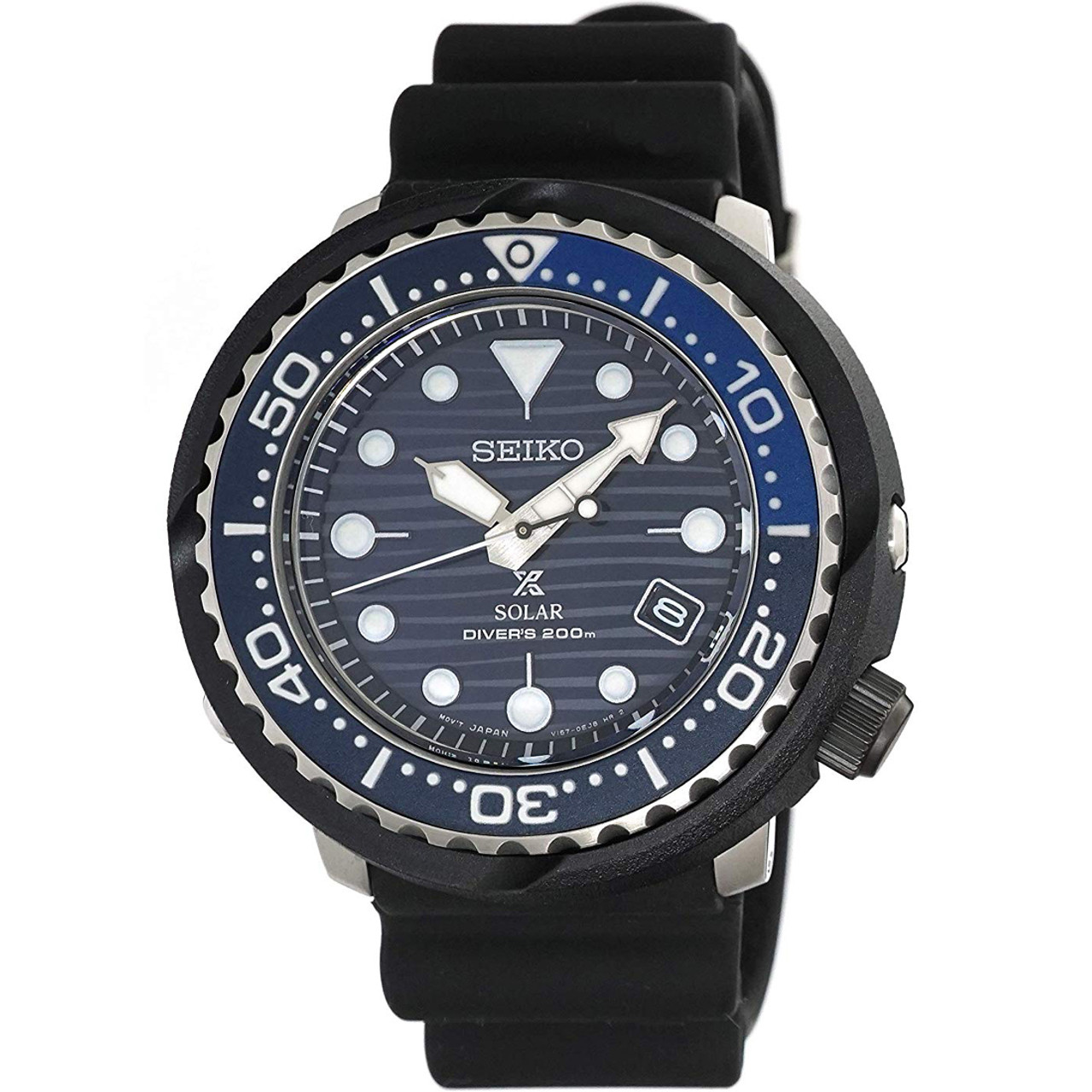 Seiko Prospex Solar Save The Ocean Tuna Blue Dial Watch SNE518P1