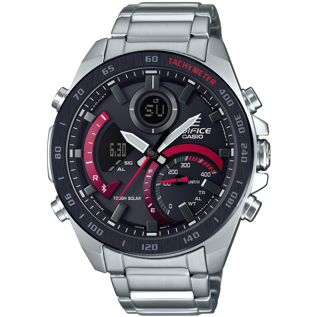 f67e8c8b9 Casio Edifice Bluetooth Tough Solar World Time Silver Bracelet Watch  ECB-900DB-1AER