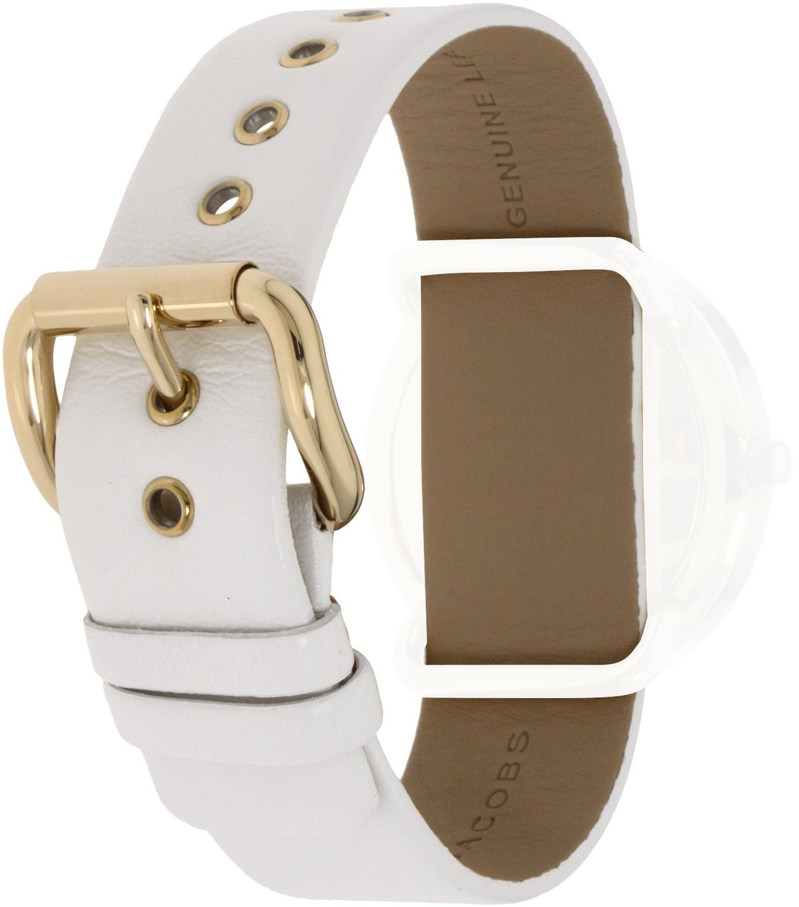 ecfec0911130b Marc Jacobs Replacement Watch Strap White Leather 20mm For MBM1150