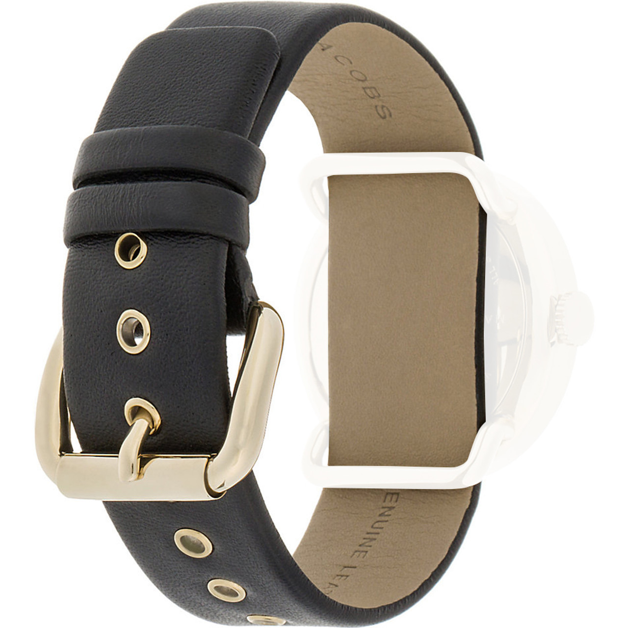 2620d7de379f8 Marc Jacobs Replacement Watch Strap Black Leather 20mm For MBM1154