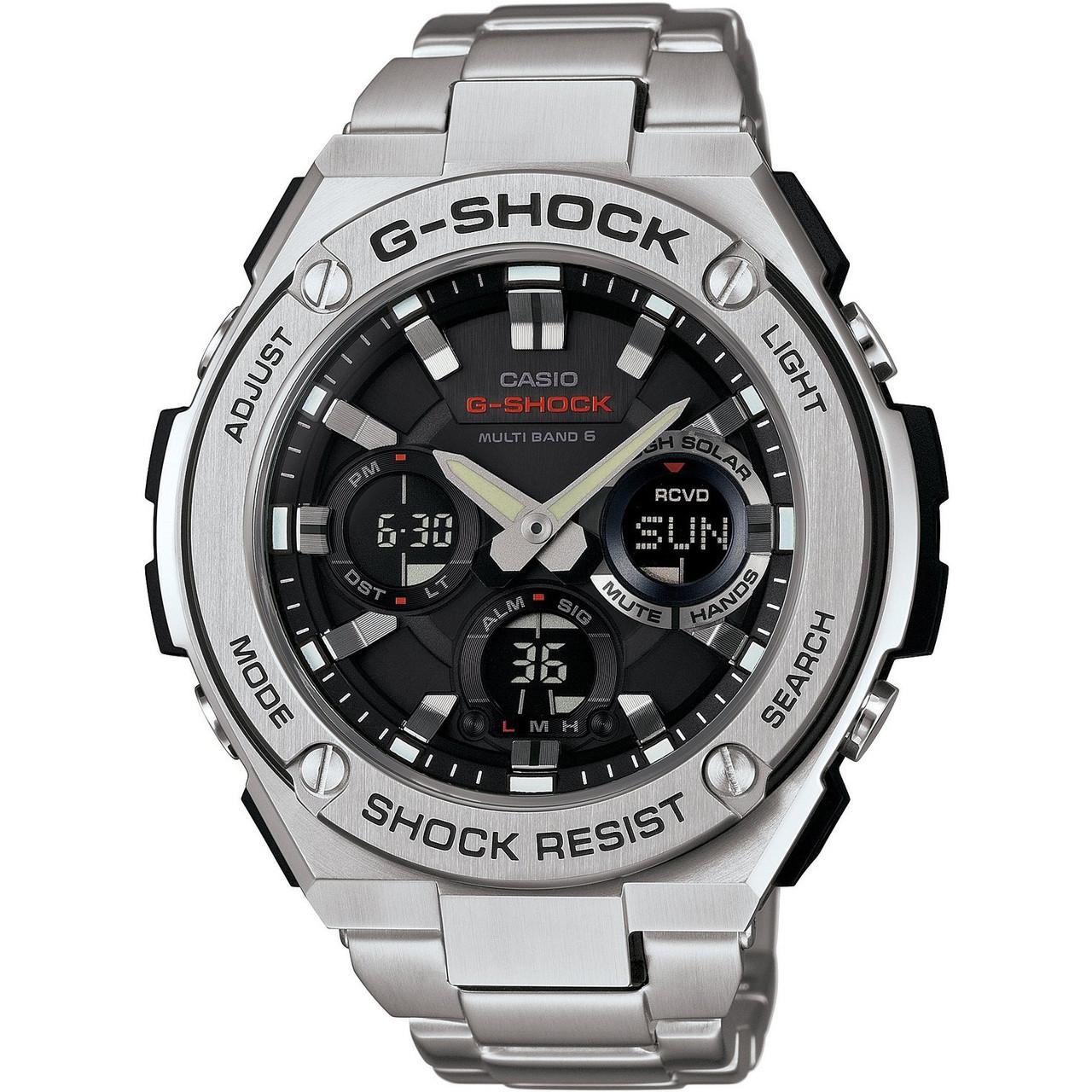 341e0660884919 G-Shock G-Steel Radio Controlled Solar Powered Watch GST-W110D-1AER