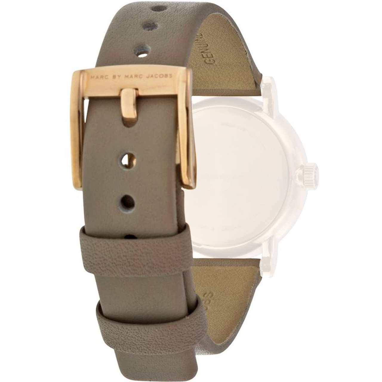 dd6c2a6734f7d Marc Jacobs Replacement Watch Strap Grey Leather 14mm For MBM1318