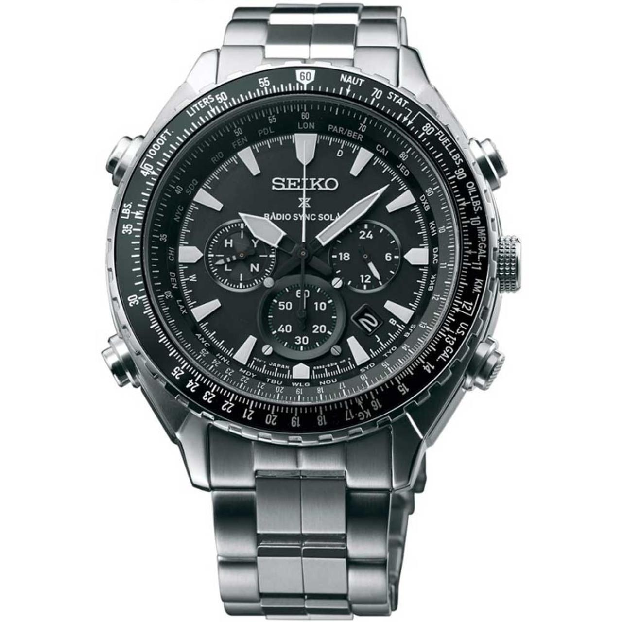 2cddba45c Seiko Mens Radio Controlled Prospex Chronograph Solar Watch SSG001P1