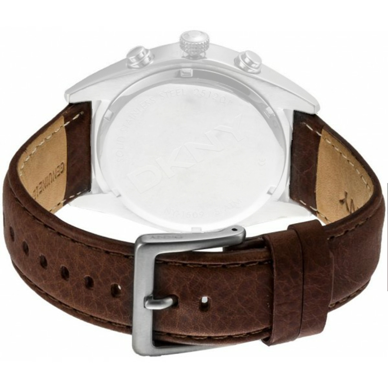 57f28621e DKNY Watch Replacement Brown Leather Strap For NY1509