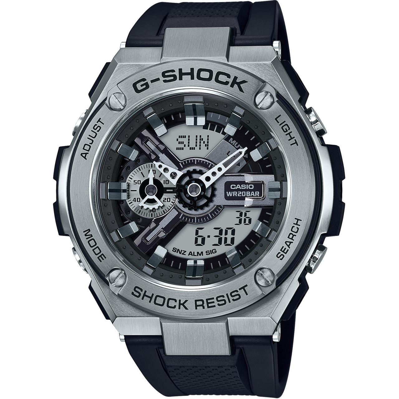 acheter en ligne c5300 932e3 G-Shock Montre à bracelet en résine noire G-Steel GST-410-1AER
