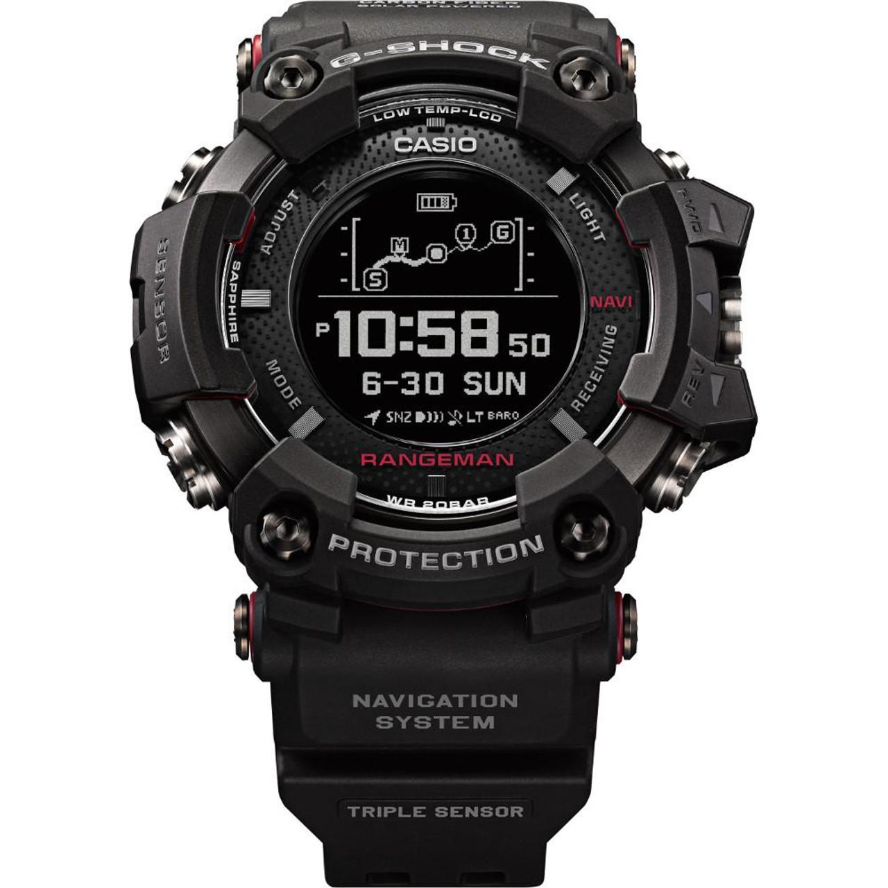 e5483e4265 G-Shock Rangeman GPS Navigation Bluetooth Triple Sensor Solar Watch  GPR-B1000-1ER
