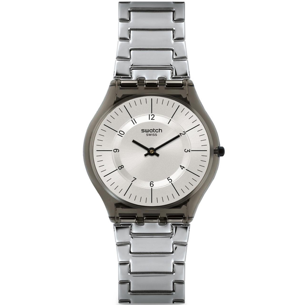 Sfm134g Steel Watch Quartz Grey Stainless Unisex Bracelet Skin Swatch Dial Classic Metalmix xtQhCrds