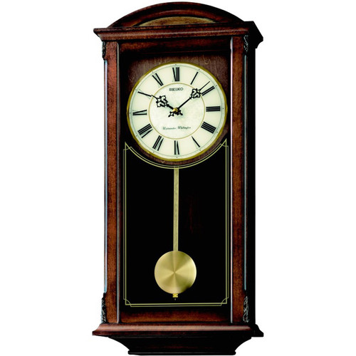 Seiko Westminster And Whittington Pendulum Clock Qxh069b